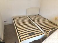 Selling two single bed with mattress in good condition