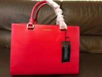 Sale. New. Stunning Red leather office handbag- fits A4 & laptop. Lulu Guiness.