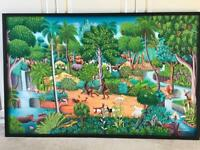 Beautiful oil painting for kids bedroom