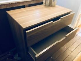John Lewis oak style chest of drawers