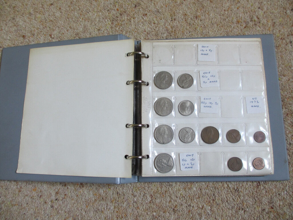 Coin Book with (109 BU) coins from 1968-1998