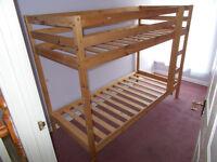 Wooden Frame Bunk Bed