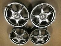"""Brand New 18"""" Ford Fiesta RS alloy wheels 4x108 4x100 Mini Cooper S R53 RRP£750 CAN POST"""