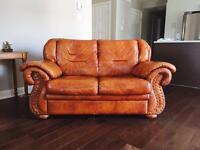 Leather Sofa for sale (Set of two)