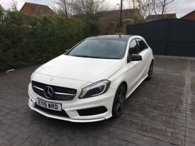 2015 Mercedes White A-Class 180 CDI AMG Sport Night Edition 5dr Panoramic Roof, Sat Nav, Reverse Cam