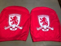 Middlesbrough FC headrest covers