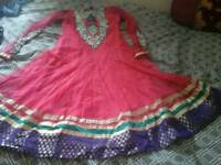 Party dress pink and purple