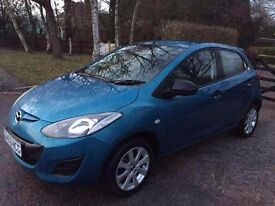 MAZDA 2 63 PLATE 2014 REG BLUE 8,000 MILES ONLY INSURANCE CAT C EXCELLENT CONDITION INSIDE AND OUT