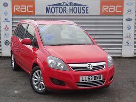 Vauxhall Zafira DESIGN NAV CDTI (ECOFLEX) FREE MOT'S AS LONG AS YOU OWN THE CAR!!!! (red) 2013
