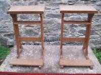 2 oak church reading desks.