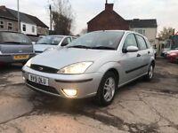 Ford Focus 1.6 i 16v Zetec 5dr 2001 (51 reg) Hatchback 114,882 miles Manual Petrol MOT 12 MONTHS