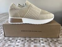 Nearly New Beige Woman's River Island Trainers