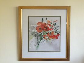 Print of poppies