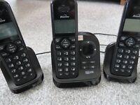Three Cordless Phones + Answerphone, Binatone Symphony 3325 triple cordless phones + answer machine