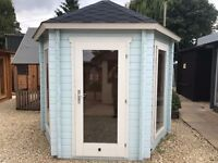 Hectagonal Shaped Log Cabin - Good Condition