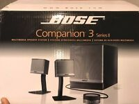 BOSE Companion 3 Series 2 Multimedia Speaker System - excellent condition