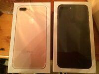 iPhone7 +Plus x 2- 128gb & 32gb- Matte Black-Rose Gold - 2 year Warranty-Store Receipt- Quick Sale -