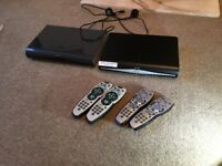 2x sky+ HD boxes and 4 remotes