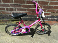 Raleigh Lily Pink First Girls bike for 4-7 years old