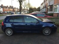 VOLKSWAGEN GOLF MK5 GT TDI 2008 140BHP. SALVAGE, DAMAGED, REPAIRABLE. (NOT A3, 520D, GTI)