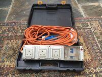 caravan extension lead sockets