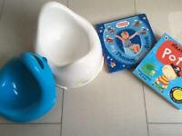 Potty and 2 unused potty training books
