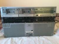 SHARP TWIN CASSETTE PLAYER FOR SALE