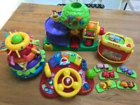 4x battery operated children's toy bundle- vtech, Lamaze & leap frog. Great condition.