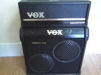 VOX VT 20 GUITAR AMP AND CAB