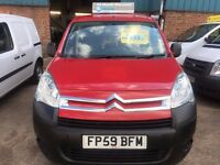 new shape citroen berlingo van 1.6hdi 2009/59reg 88k £2999 no vat
