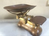 W & T Avery potato weighing scales.