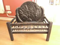 Lovely cast iron grate for open fire place.