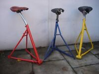 Bicycle Stools Up-Cycled from Crashed and Burned Bikes!!! Unique Gift for the Bikey!! Bike Art!!!