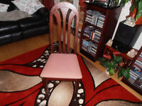 4 Dinning Room Chairs. One carpet 4x3 ideal for childrens bedroom.