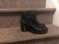 Smooth Black Women's Boots, size 7.