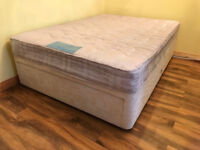 Myers Double Divan Bed with Drawers + Mattress (nearly new) - Free delivery