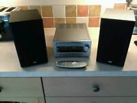 Jvc micro dab hifi with valve amplifier, cd player and bluetooth