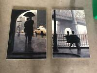 Brookpace oleograph couple picture new york canvas