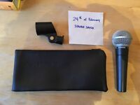 Shure SM58 - indestructible dynamic microphone