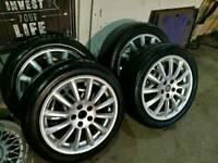 Jag Ford mondeo alloys 17 inch good tyres