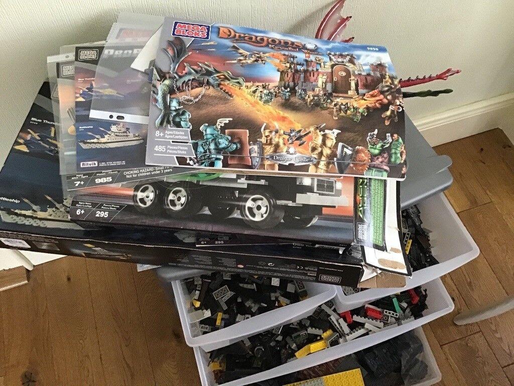 Megabloks Large Job Lot - Sets and Instructions - Fits with Lego
