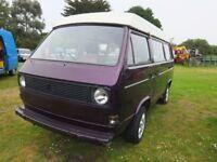 VW T25 Camper Van Devon Pop-Top Conversion - Bare Metal Respray - Requires Interior Finishing