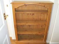 Antique Solid Pine Bookcase / Shelving