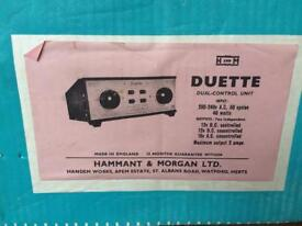 Duette model railway control PSU - hornby?