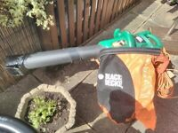 Black and Decker leaf blower and vacuum cleaner. THIS ITEM IS NOW SOLD.