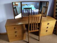 Teak Stag Retro Dressing Table - REDUCED
