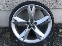 19INCH 5/100 A5 STYLE ALLOY WHEELS WITH TYRES FIT VW AUDI SEAT ETC