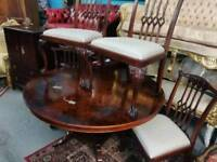 Large Dining Table & 4x Chairs