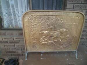Antique pressed  copper fire safety screen