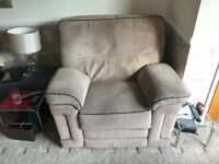 Electric fully reclining arm chair - excellent condition